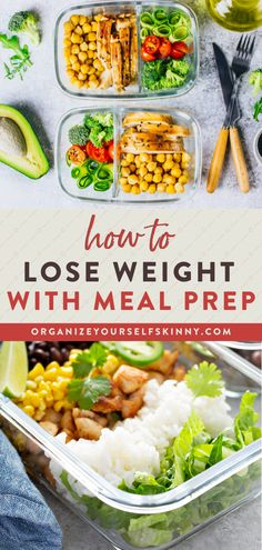 Meal prep can look many different ways and take on multiple forms. It can help you reduce stress, save money, and eat healthier foods during the week. But if you want to drop a few pounds, then using meal prep for weight loss can make it easier to stay on track with nutrition and reach your health goals. Organize Yourself Skinny Healthy Meal Prep Tips | Weight Loss Tips | How To Lose Weight Healthy Freezer Meals, Healthy Eating Habits, Healthy Meal Prep, Clean Eating Recipes, Healthy Recipes, 1500 Calorie Meal Plan, Before And After Weightloss, Meal Plans To Lose Weight, Meal Prep Bowls