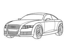 Ausmalbilder Autos Audi A4 #audi #a4 #coloring | Auto ...