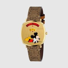 Gucci Disney X Grip Watch, In Undefined Gucci Watches For Men, Gold Watches Women, Luxury Watches, Mickey Mouse, Gold And Silver Watch, Creation Crafts, How To Clean Metal, Luxury Bags, Designing Women