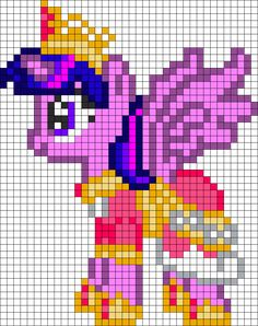 Alicorn Twilight Sparkle Perler Bead Pattern / Bead Sprite
