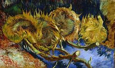Van Gogh, Four Sunflowers Gone to Seed, August-October 1887. Oil on canvas, 60 x…