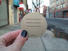 We love Audrey Dimola's stickers - one of the best forms of guerrilla poetry!