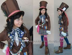 Coolest Mad Hatter Girl Costume Idea... This website is the Pinterest of costumes