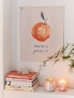 Peachy keen tapestry flag available exclusively at UO. Made from a cotton canvas weave with peach print and metal grommets at upper corners for easy hanging.