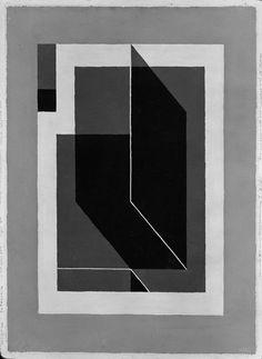Josef Albers, Bent Dark Gray, 1943. Oil on Masonite, 19 x 14 inches (48.2 x 35.5 cm)