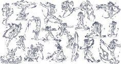 「火憐でアクションポーズ練習20ポーズ」/「さきの新月」のイラスト [pixiv]
