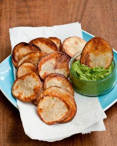 Kale+Lemon Pesto w/ Oven Chips by Lindsey Johnson {Cafe Johnsonia}, via Flickr