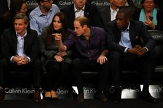 8 Dec 2014:  The Duke and Duchess of Cambridge watch the Cleveland Cavaliers v Brooklyn Nets at Barclays Center in the Brooklyn.