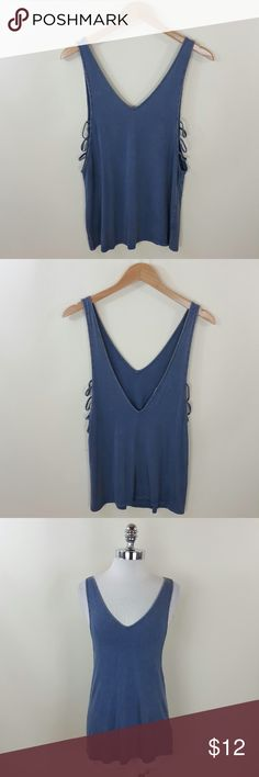 Double v neck cut out tank Double v neck cut out tank 95% rayon 5% spandex Tops Blouses