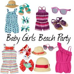 """BABY GIRLS BEACH PARTY"" by mdcampbell on Polyvore"