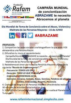 Argentina:Campaña del abrazo de Fundación Rafam   Central Informativa del Adulto Mayor