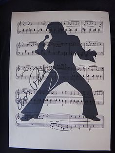 Elvis Presley Silhouette Wall Art Print on by DecorisDesigns