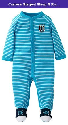 Carter's Striped Sleep N Play (Baby) - Turquoise Sport-NB. Carters Striped Sleep N Play (Baby) - Turquoise Sport Carter's is the leading brand of children's clothing, gifts and accessories in America, selling more than 10 products for every child born in the U.S. The designs are based on a heritage of quality and innovation that has earned them the trust of generations of families.