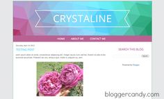 Crystaline - a free geometric patterned Blogger template from bloggercandy.com