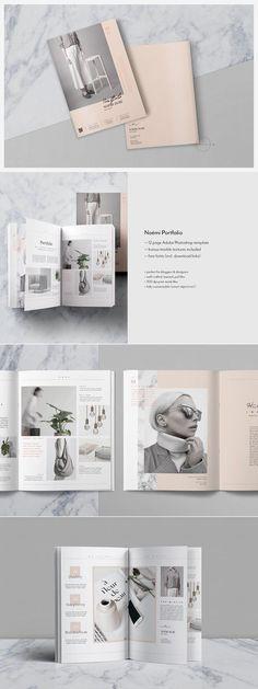 Editorial PSD Portfolio & Magazine / Lookbook Template for Photographer, Stylist, Designer / Fashion Resume Template / Beauty Catalog by Nonola