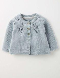 Knitwear Cosy Baby Cardigan 71528 Knitted Cardigans at Boden Baby Cardigan Knitting Pattern, Baby Knitting Patterns, Baby Patterns, Crochet Patterns, Knit Baby Sweaters, Knitted Baby Clothes, Baby Knits, Cardigan Bebe, Knit Cardigan
