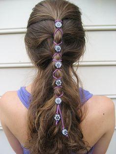 Items similar to Stunning Silver Hair Wrap - Colored on Etsy, '' style'' Diy Hairstyles, Pretty Hairstyles, Tribal Hair, Hair Brooch, Viking Hair, Hair Rings, Diy Hair Accessories, Hair Sticks, Silver Hair