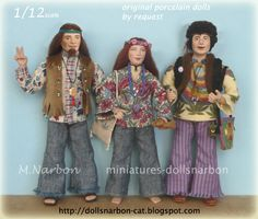 https://www.etsy.com/shop/marianarbon The Hippies is a commission delivered July 2016. original porcelain dolls…