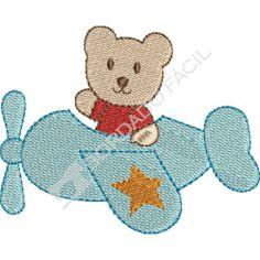 Avião com Urso Tilda Toy, Applique, Kids Rugs, Creative, Baby, Bolo Fake, Machine Applique, Fabric Sewing, Gifts For Boys