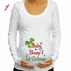 WEIMEITE Pregnant Women T-Shirts Cartoon Maternity Top Funny Pregnancy T-Shirts Pregnant Tee Shirt
