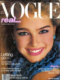 Brooke Shields on the October 1980 cover of Vogue magazine