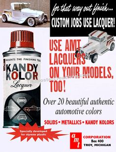 Model cars deserve lacquer paint, just like the real cars.  Courtesy of mygenerationshop.com