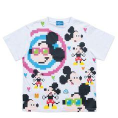 TDR Tシャツ レトロ 8bit デジタルデザイン ミッキー S〜LL