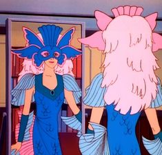 When she got dressed up for Mardi Gras like a beautiful scale-y bird/fish hybrid. | 27 Times Jem's Outfits Were Truly, Truly, Truly Outrageous