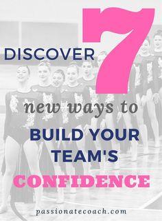 Building self confidence dance team coaching confidence boosters confidence tips confidence activities High School Cheer, High School Dance, College Cheer, School Sports, Cheerleading Workouts, School Cheerleading, Cheerleading Quotes, Cheer Coaches, Team Cheer