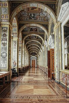"Hermitage, St Petersburg, Russia. A great deal of the details in my dining in NY came from this hall, which I visited with my team.  See the finished room in ""Fifth Avenue Style"" by Howard Slatkin, out in September from Vendome Press"