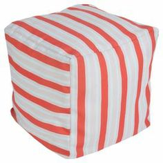 Delores Pouf in Coral at Joss & Main