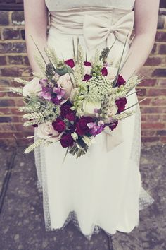 "Rustic Fall Wedding Ideas | ... Inspired Wedding ~ UK Wedding Blog ~ Whimsical Wonderland Weddings ""Nice bouquet"""