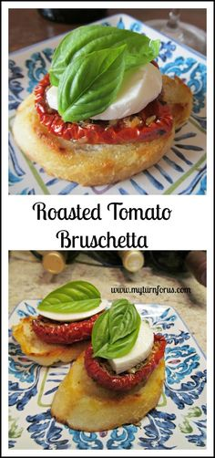 ... roasted tomatoes, fresh mozzarella cheese and basil leaves. http://www