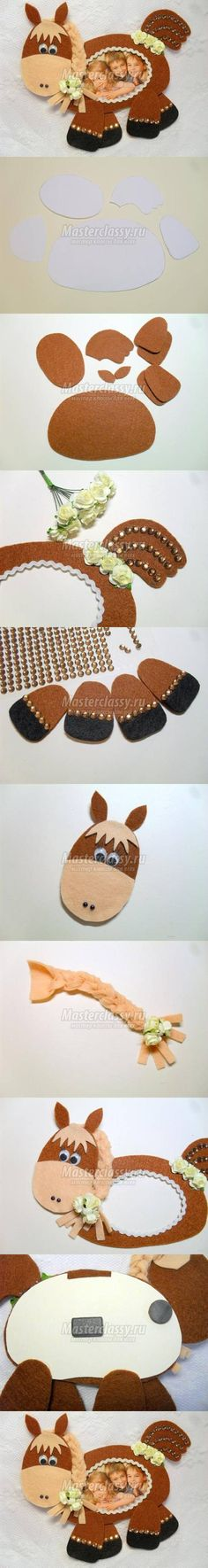 DIY Felt Horse Picture Frame DIY Projects | UsefulDIY.com Follow Us on Facebook ==> http://www.facebook.com/UsefulDiy