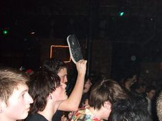 Slip-ons slip off easily. i took this photo about five years ago at the Voodoo Glow Skulls show in Slim's San Francisco.