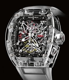 Richard Mille | Tourbillon Split Seconds Competition Chronograph FM Sapphire | Others | Watch database watchtime.com #RichardMille #luxurywatches