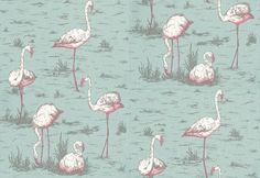 esdesign: Wallpaper Wednesday: Cole and Son 'Flamingos'
