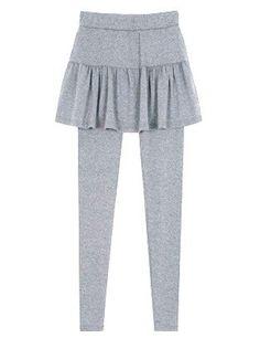 Amazon.co.jp: Natural Berry(ナチュラルベリー) ウエストゴム フレアミニスカート付き 9分丈レギンス スカッツ レディース: 服&ファッション小物