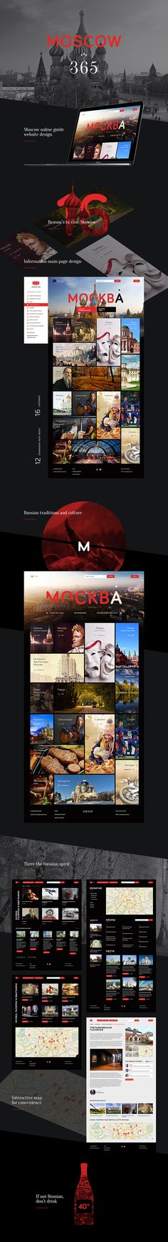 Moscow 365 website design