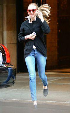 Amanda Seyfried in Frame Denim