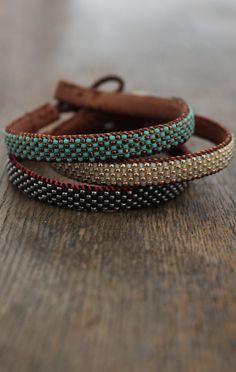 Love Heals Single Wrap Bracelet boho chic @jan issues issues issues Wilke Davis Blue