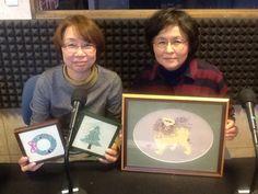 今日のアイタイムゲストは日本刺繍作家の水谷香澄さんと、大熊仁美さんがいらっしゃいました!