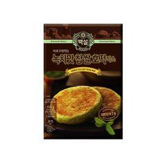 [호떡] {CJ-Beksul} Green Tea Sweet Korea Glutinous Rice Pancake Hotteok Mix 400g (14.11 oz)