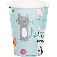 Cat Party Cups, Cat Party, Kitten Party, Set of 8 cups Party Set, Party Cups, Kitty Party, Cat Themed Parties, Thema Deco, Party Mottos, Nautical Party, Nautical Wedding, Cat Birthday