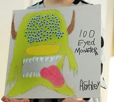 cute 100th day of school poster idea!