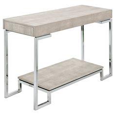 Regina Andrew Ivory Grey Shagreen Console Table