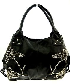Leather Handbag Large (40cm x 26cm) Black Handbag Tote Bag Hobo Woman Handbag Black