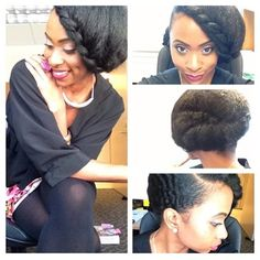 Beautiful updo. Can't wait to replicate. -TMC~~ NATURAL HAIR UPDO