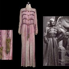 Rare Elsa Shiaparelli gown worn by Marlene Dietrich,in 1935, and later owned by Mae West