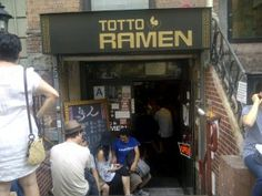 Totto Ramen. Famous noodles in Midtown NYC